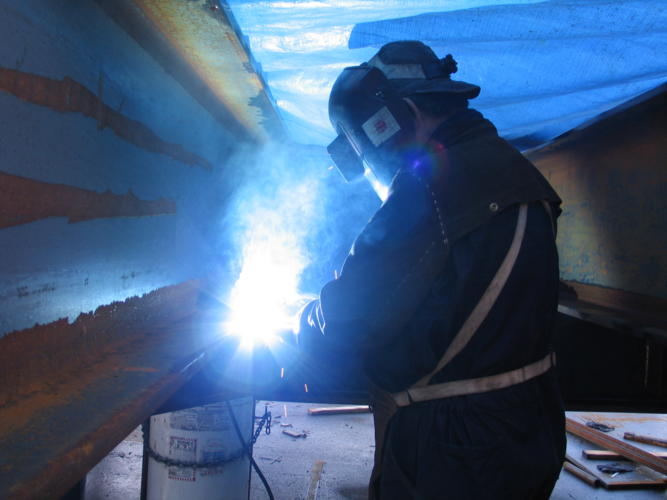 Lower Ramp Welding
